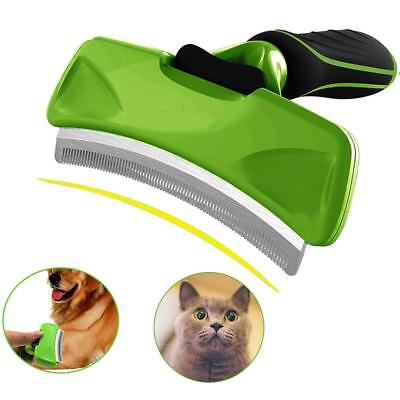 Wanfei Curved Pet Deshedding Tool, Dog Cat Pet Grooming Shedding Brush, Curved