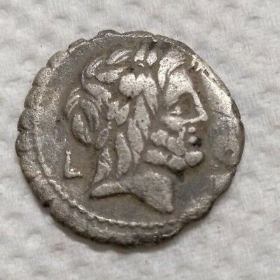 Ancient silver dinarius Roman Republic