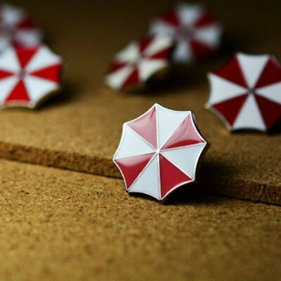 2Pcs Resident Evil Umbrella Corporation badge Brooch Umbrella Hat Lapel Pin US