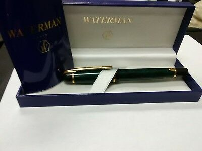 Waterman Paris Rollerball Pen with Box Marbeled Green