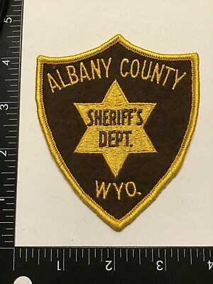 Vintage ALBANY COUNTY WYOMING Sheriff's Dept Police Patch WY Wool Cheese Cloth