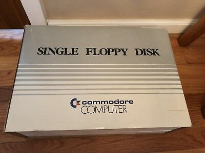 Vintage Commodore Computer Single Floppy Disk Drive Model 1541 with Box & Manual