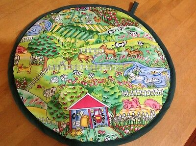 Aga Lid Cover Hob Covers Lids Mats Protector Topper Chef Pads Farmyard Animals