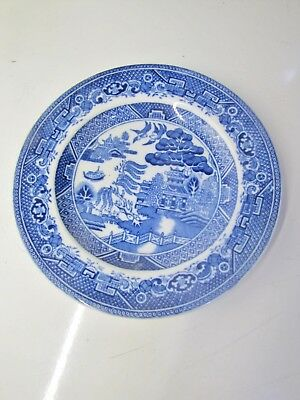Adderley Ware Old WILLOW Pattern Small 16cm * SIDE PLATE * (Blue & White)
