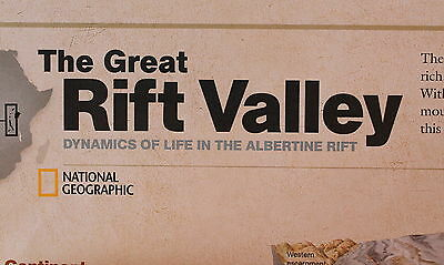 Africa's Great Lakes / Rift Valley  National Geographic Map / Poster Sept  2011
