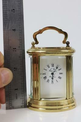 MINIATURE L'EPEE OVAL CARRIAGE CLOCK super little gift clock 11 JEWELS RUNNING