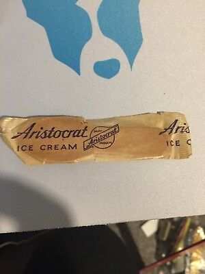 Aristocrat Wood Ice Cream Spoon Dixie Cup Wd Corp Tupper Lake Ny Unused