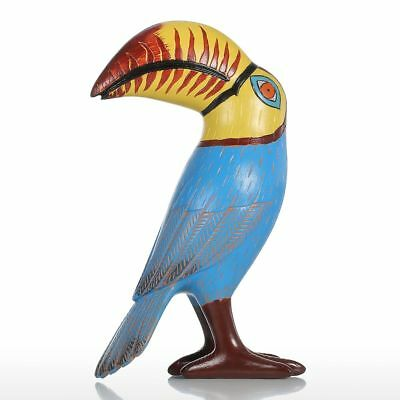Tooarts Big Mouth Toucan Bird Resin Sculpture Fiberglass Ornament Indoor N7C4