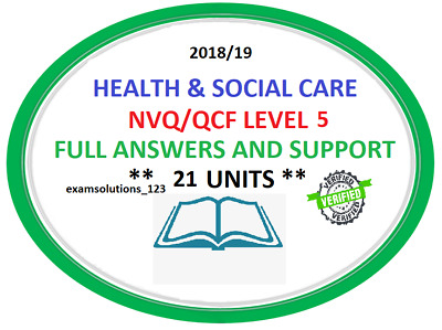 NVQ/QCF Diploma LEVEL 5 Health and Social Care Leadership Answers QUICK DISPATCH