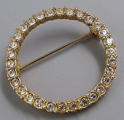 Vintage Jewelry Faceted Crystal Scarf Ring BROOCH PIN Rhinestone Lot A