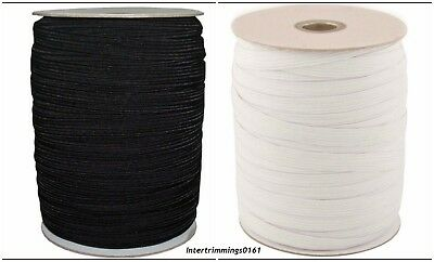 Top Quality Woven Elastic, Black & White 1/2 Inch 12Mm Wide, Art-4077, Free P&P