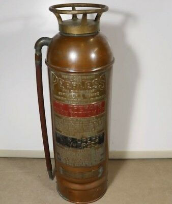 Vintage Peerless Copper and Brass Fire Extinguiser, 2 1/2 Gallon