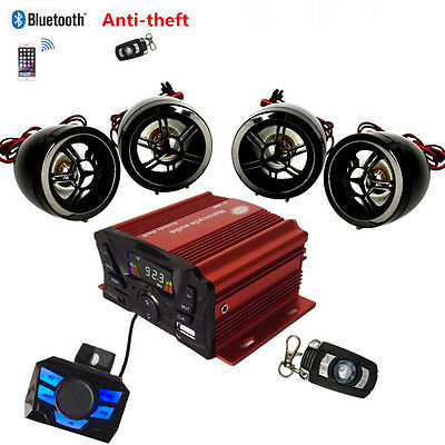 UTV,ATV, Anti-Theft Speakers USB Audio System Stereo Bluetooth Motor Remote USED