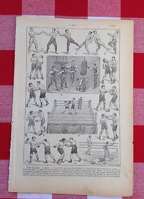 Vintage French Dictionary original image 1940 Boxing