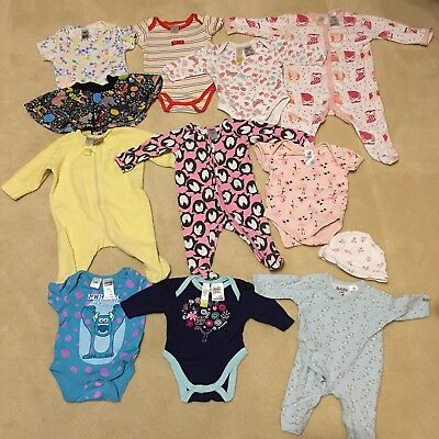 Bulk Baby Girls Clothes Size 0000 to 00 -12 items Inc Bonds Disneybaby Cotton on