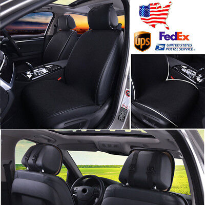 1pc Portable Car SUV Front Single Mat Seat Covers Breathable Mesh Sponge Cushion