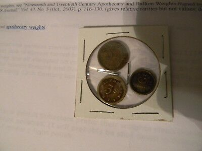 3 Different Apothecary Weights 1, 2, 3 Scruples Henry Troemner W History Page