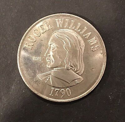 Vintage Puritan Roger Williams Rhode Island Statehood Commemorative Travel Coin