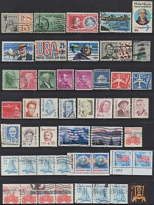 USA No.15 COLLECTION OF (48) STAMPS USED.