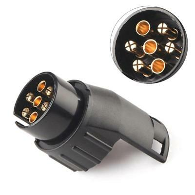 7 Pin to 13 Pin Trailer Towing Vehicle Adapter Connector Socket Converter Fine@