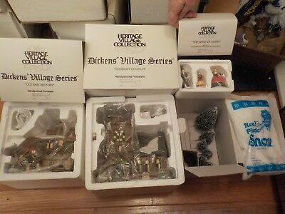 *NEW* Dept 56, Dickens Village Series , THE SPIRIT OF GIVING 13 Piece Set #58322