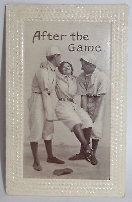Unused COMEDY Post Card AFTER THE GAME Baseball