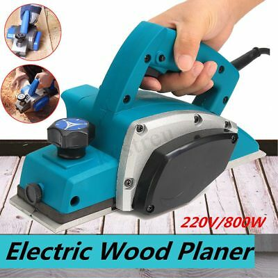 Lumberjack 800W 220V 82mm Electric Heavy Duty Wood Planer with Fence & Dust