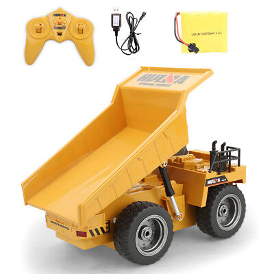 Electronic Alloy RC Tractor Bulldozer Crawler Truck 1:18 2.4GHz Toy Digger