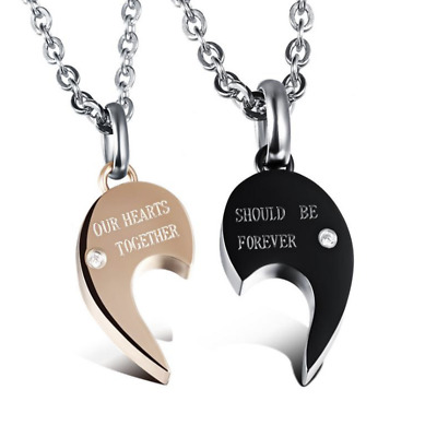 Fashion Unisex 316L Stainless Steel Diamond  Chain Pendant Necklace Gift 998