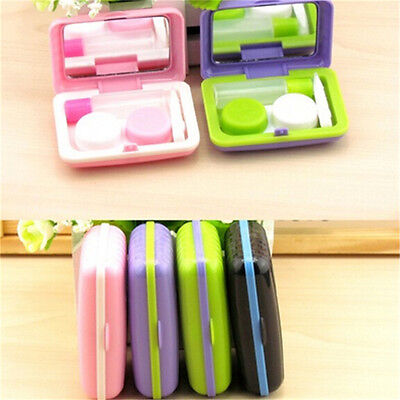 Portable Mini Contact Lenses Case Box Trunk Shape Eyewear Cases Lens Care Box LJ