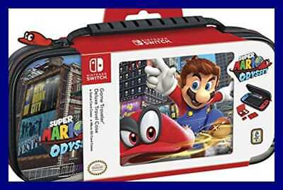 Nintendo Switch Super Mario Odyssey Carrying Case – Protective Deluxe Travel PU