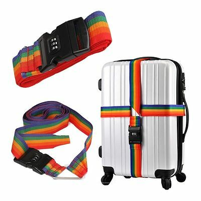 Password Strap Lock Luggage Suitcase Coded Cross Belt Lock Baggage Backpack