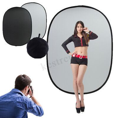 200cmx150cm Photo Collapsible Movable Backdrop Background Black & White  new
