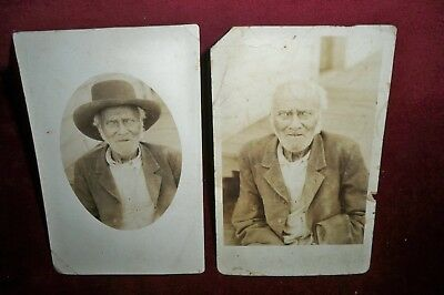 RPPC African American Same Man on 2 Different RPPC's No-Line Unposted 1901-1907