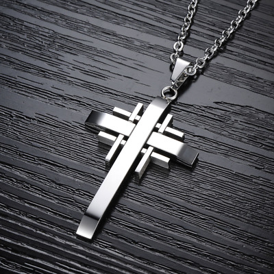 Fashion Unisex 316L Stainless Steel cross Chain Pendant Necklace Gift GX941