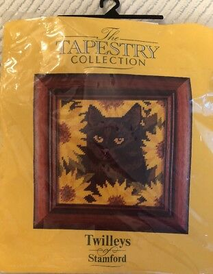 Vintage Twilleys of Stamford Unfinished Needlepoint Oscar Cat Tapestry A1-1410