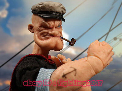 1/12 Scale Mezco Toyz 76470  6 inch POPEYE The Sailor Figure Statue In Stock