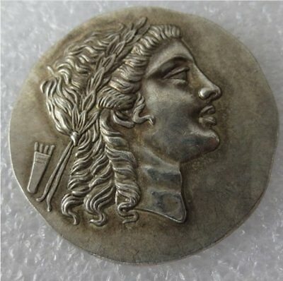 ANCIENT GREECE tetradrachm 200-150 B.C.  Myrina, Aeolis  beautiful greek art