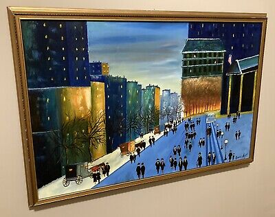 New York Oil Painting on Canvas by Montreal Canadian Artist David Mazal SIGNED