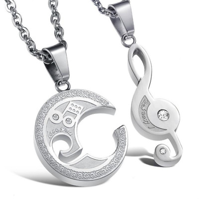 Fashion Unisex 316L Stainless Steel Love heart Chain Pendant Necklace Gift GX553