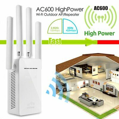 Dual-Band 2.4/5G 4-Antenna WIFI Range Extender WiFi Repeater Router 4k FREE POST