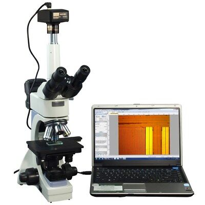 OMAX 40-2000X Infinity Metallurgical Microscope with Dual Lights+14MP Camera