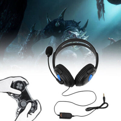 3.5mm Wired Game Headset Earphone Headphone with MIC for Sony PS4 PlayStation 4