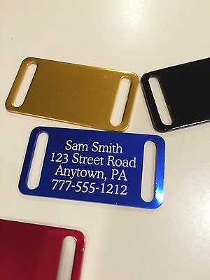 Personalized slide on collar Pet Tags     color options!      BUY 3 get 1 free!!