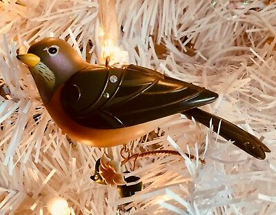 2018 Hallmark Keepsake The Birds of Beauty Lady Robin LE Ornament NISB