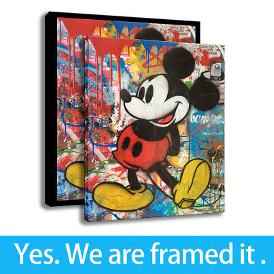 Mickey Mouse HD Print on Canvas Disney Arts Painting Home Decor Modern Framed
