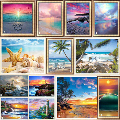 Seaside Full Drill DIY 5D Diamond Painting Embroidery Beach Cross Stitch Kits