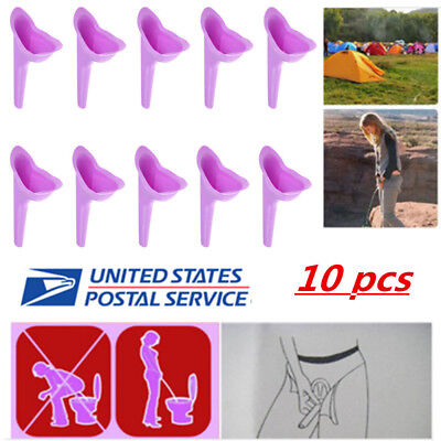 10PC Portable Female Urinal Outdoor Camping Urination Toilet Urine Device Funnel