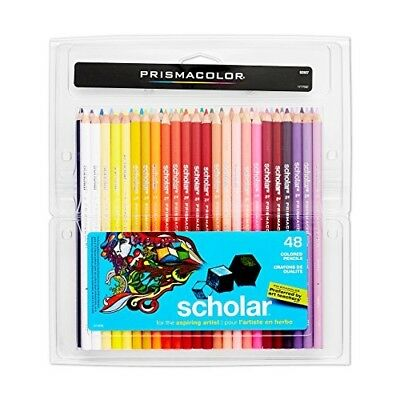 Prismacolor Colored Pencils Hardened Core Woodcase Color Pencil Set 48 Pack New