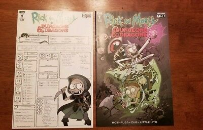 Rick And Morty Vs. Dungeons And Dragons #1 Cover A And B